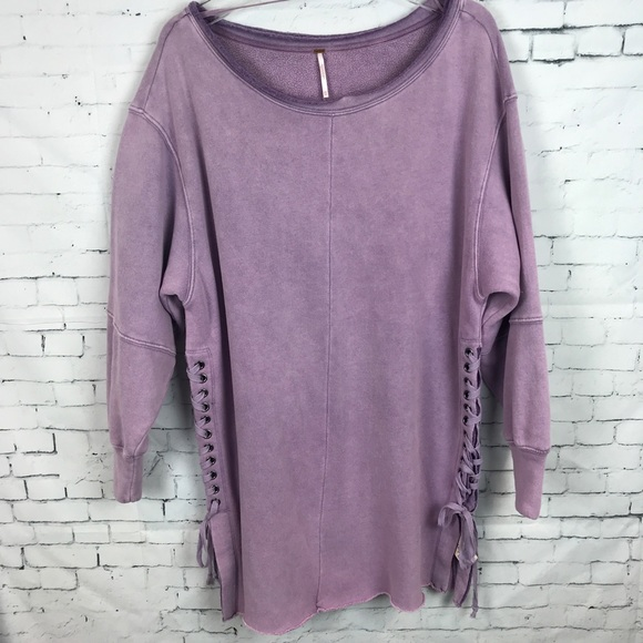 Free People Tops - Free People Cotton Oversized Tunic Side Lace Up 697817f29